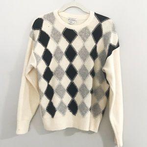 Vintage Saks Fifth Avenue Argyle Sweater